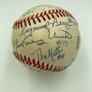 Johnny Unitas Baltimore Colts Hall Of Fame Legends Multi Signed Baseball JSA COA