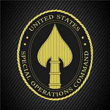 US Army Special Operations Command Vinyl Graphics Decal Sticker Car Window