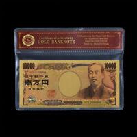 WR 24K Gold Japan Banknote 10000 Yen Gold Geldschein farbige Design