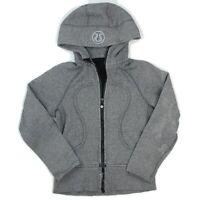 LULULEMON Womens Gray Full Zip Hooded Athletic Scuba Jacket Size 4 (XS)