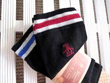 3 Pares de Calcetines de Algodón Negro Original X Pingüino Pie Reino Unido 7-11, Eu41-46 para hombre