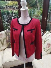 Ladies Red & Black Blazer Jacket - Next - Size 8 Petite