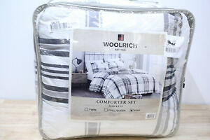 Woolrich 4-Piece KING/CAL KING Comforter Set Hawkeye Plaid A0Z254