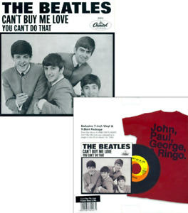 The Beatles: Cant Buy Me Love/ You Cant Do That- Exclusive 7inch Vinyl & T-Shirt