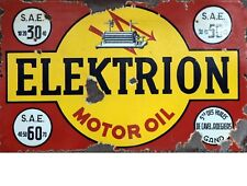 """TIN SIGN """"Elektrion""""   Gas-Oil   Signs  Rustic Wall Decor"""