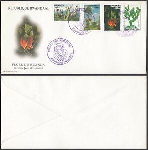 Rwanda 1998 - FDC. Cob Nr.: 1403-1406-Trees-Cactus.......... (EB) MV-6552