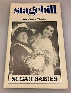Stagebill Arie Crown Theatre Sugar Babies Mickey Rooney Chicago IL November 1982