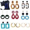 1Pair Acrylic Earrings Tortoise Shell Earrings Resin Hoop Earrings for Women