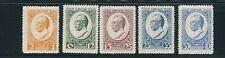 LATVIA 1929 semi-postals Diplomat MEIEROVICS set of 5 (Scott B46-50) F/VF MH