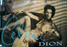 CELINE DION COLOUR OF MY LOVE 1993 VINTAGE ORIG MUSIC RECORD STORE PROMO POSTER