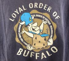 Vintage Flintstones T-Shirt XL 90's Streetwear Ringer Tee Loyal Order of Buffalo