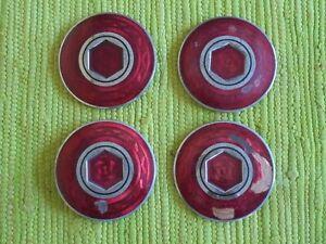 46 47 48 49 50 Packard CLOISONNE Center Hubcap Medallion Emblem Set of 4