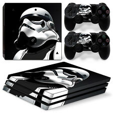 Sony PS4 Pro Console and Controller Skins/Decal--Star Wars Storm Trooper (P-40)