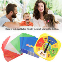 Yoga Pose Rounded Game Board Toy Children Kids Family Interactive Cards Game