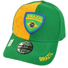 low priced 209a6 fe5ef Brazil Flag Colors Country Green Yellow Adjustable Hat Cap Brasil Brazilian
