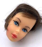 Beautiful Original Vintage 1966 Barbie Brunette HEAD ONLY Mattel Japan
