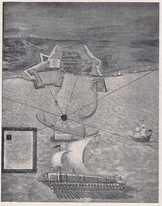 E2640 Plant Of City Of Civitavecchia - 1928 Map Period - Vintage Map
