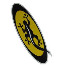 Noir salamandre medium jaune ovale autocollant-CS235-new