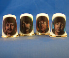Birchcroft China Thimbles -- Set of Four -- Early Beatles