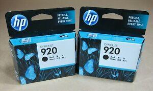 [0786*] TWO HP 920 (CD971AA) BLACK INKS ( RRP>$80 )