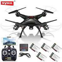 5 Batteries Syma RC Quadcopter X5SW-V3 2.4Ghz 4CH WIFI FPV Drone with HD Camera
