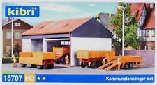 Kibri 15707 H0 - Kommunalanhänger- Set NEU & OvP