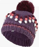Joe Browns Bobble Hat Women's Popcorn Purple/Pink/White/Winter/Acrylic/Warm/NEW