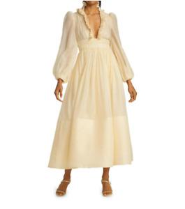 ZIMMERMANN Wild Botanica Long-Sleeve Maxi Dress $1850 size 2 (US 6-8)