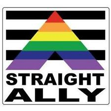 Straight Ally Gay Pride Bumper Sticker LGBTQ Equality Resist Resistance