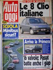 Auto Oggi 199 1990 Le 8 Clio italiane. Arriva la Primera. Nuova Mercedes  [Q106]