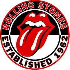 Rolling Stones Tounge Est 1962 Rnd Vinyl Bumper Sticker Rock n Roll Hippie Biker