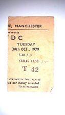 AC/DC DEF LEPPARD VERY RARE TICKET MANCHESTER APOLLO 29TH OCT 1979 BON SCOTT  2