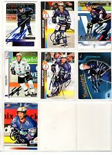 NHL/DEL Trading Cards---7 unterschriebene Cards der Iserlohn Roosters