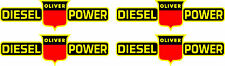 "4 OLIVER Diesel Power  Decals 8""  FREE SHIPPING"