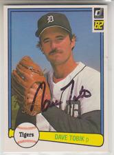 Autographed 1982 Donruss Dave Tobik - Tigers