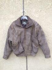 FIRST BOMBER JACKET Coat Vintage Fake Leather Size L Motorcycle Biker MEN's
