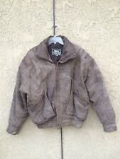 Vintage FAux Leather BOMBER JACKET Size L Coat Motorcycle Biker MEN's