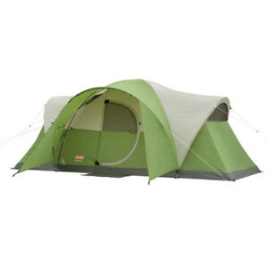 Coleman 8-Person Modified Dome Tent Camping Shelter Hiking Beach Outdoor Sleep
