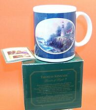 "Thomas Kincade ""A Light in the Storm"" Collector Coffee Mug in Original Box 11 oz"