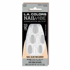 L.A. Colors NailVibe Designer Artificial Nail Kit 33Pc Coffin Shape