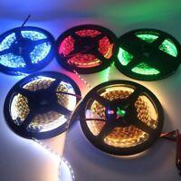 5M 12V Flexible 2835 SMD 300 Leds LED Strip Rope Light Indoor Home Waterproof