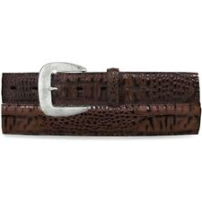 NWT TONY LAMA men's 36 leather chocolate Caiman classic belt C40188 casual croc