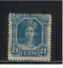 """NEWFOUNDLAND, UNITRADE # 31 USED """"QUEEN VICTORIA, 1865, VAL. $ 30.00"""