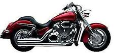 08-09 YAMAHA RAIDER ROAD BURNER DG HARD KROME BLACK LARGE RADIUS EXHAUST PIPES