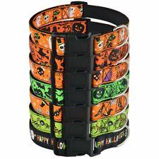Dog Collar Nylon Halloween Ghost Puppy Pets Dogs Supplies Bat Pumpkin S M L XL