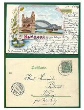 Alte AK Postkarte Deutschland   Hamburg Neue Elbebrücke 1902 mit Briefmarke