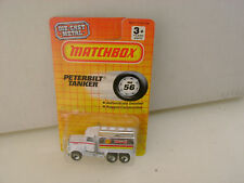 1990 MATCHBOX SUPERFAST MB 56 SHELL PETERBILT TANKER NEW ON CARD