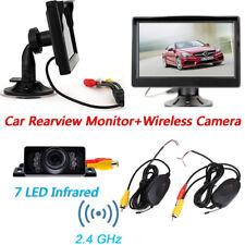 "Car Rear View Parking Kit 5"" TFT Monitor+IR Wireless Car Reversing Backup Camera"
