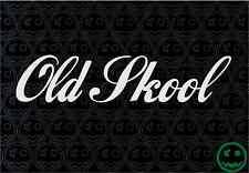 OLD SKOOL STICKER DECAL 2X 178MM WIDE CAR WALL BUMPER RETRO WINDOW STICKERS o)