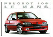 catalogue depliant publicitaire PEUGEOT 106 LE MANS